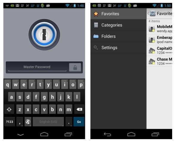 1Password 4 Android Screenshots