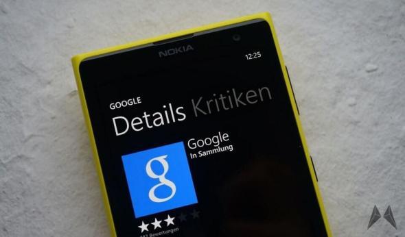 Google Suche Windows Phone Header