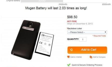 Mugen Power Akku für Galaxy Note 3
