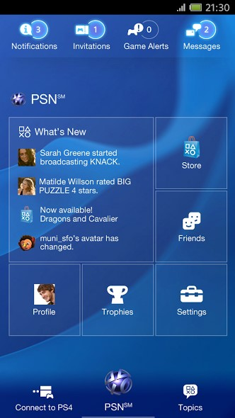 PlayStation-App 1