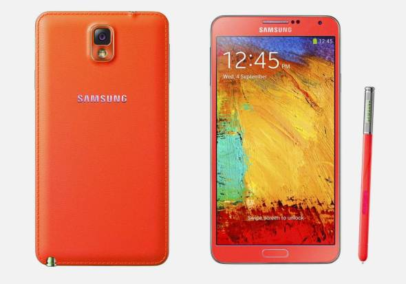 Samsung Galaxy Note 3 Rot