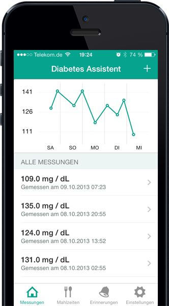 Das iPhone als Tagebuch für Diabetiker: Diabetes Assistent erleichtert Diabetikern den Alltag