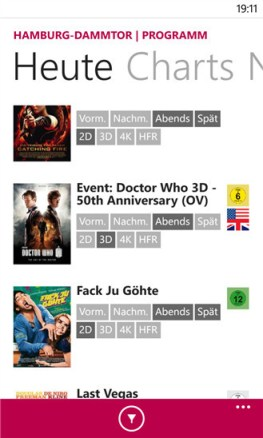 CinemaxX Windows Phone 01