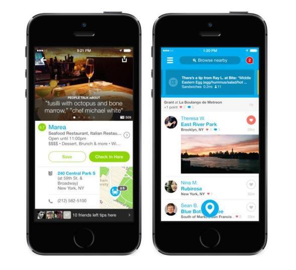 Foursquare Update iPhone
