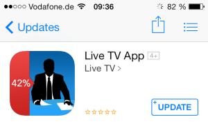 Live TV App für iOS