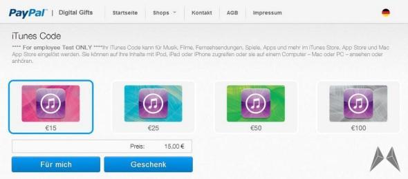 PayPal Gutscheine Deutschland