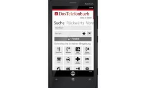 Telefonbuch Windows Phone Header