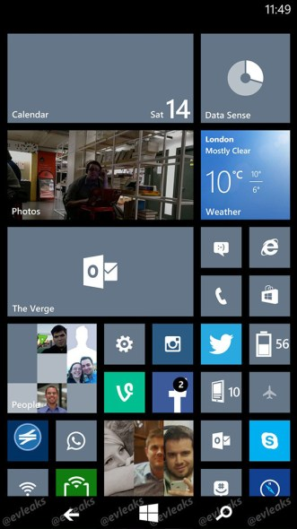 Windows Phone 8.1 Software-Buttons 02
