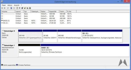 2 Dell Venue 8 Pro Datenträgerverwaltung