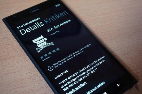 GTA San Andreas Windows Phone