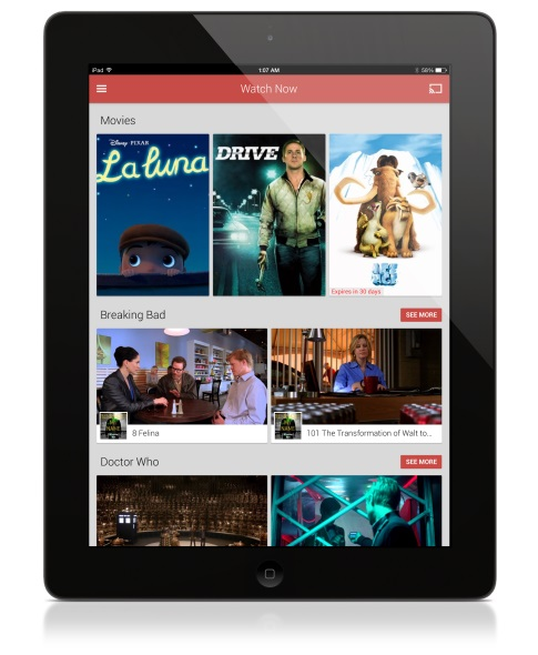 Google Play Movies & TV für iOS