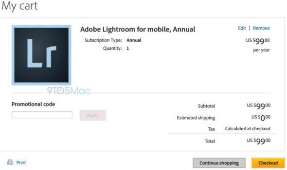 Lightroom iPad