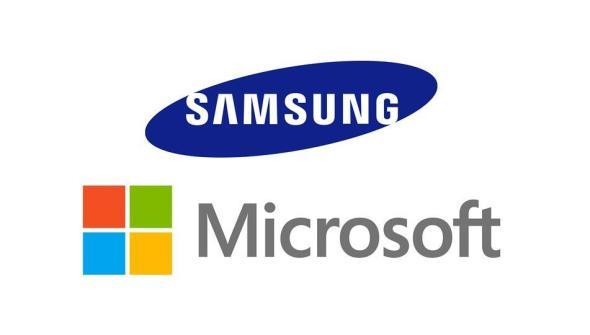 Samsung Microsoft Logo Header
