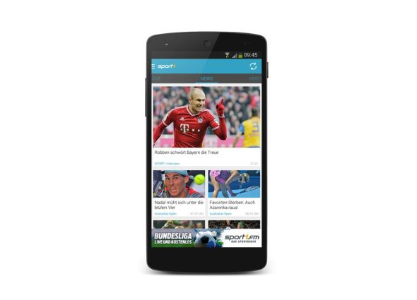 Sport1 Android header