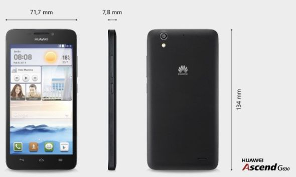 Huawei Ascend G630 Maße