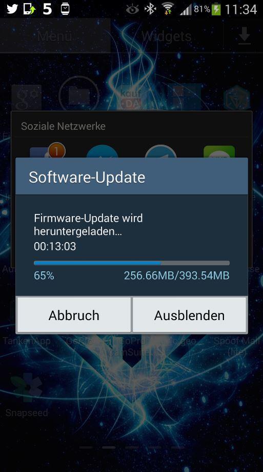 Note Update Screen