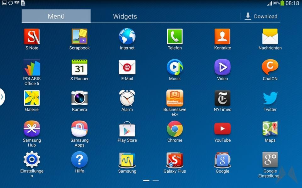 Samsung Galaxy Note 10.1 2014 Edition Screenshot (3)