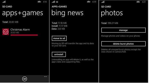 Windows Phone 8.1 SD-Karte Photos