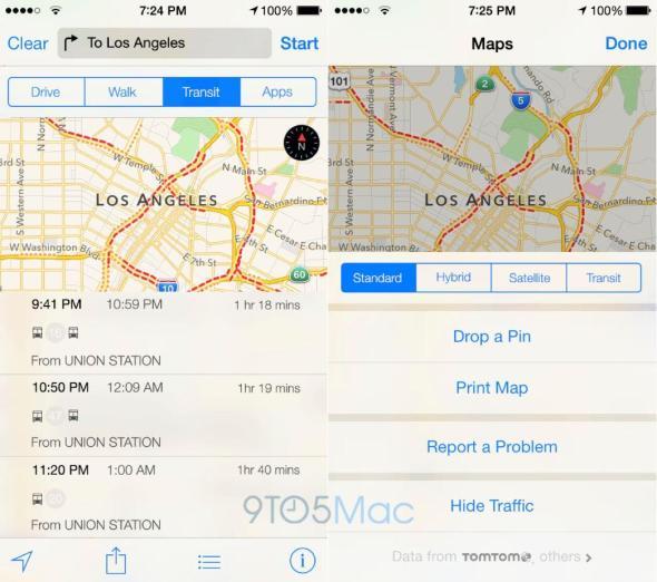 Apple Maps Transit