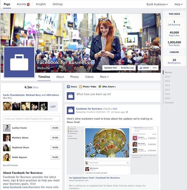 Facebook Update für Seiten  Neues Design und Analysetool