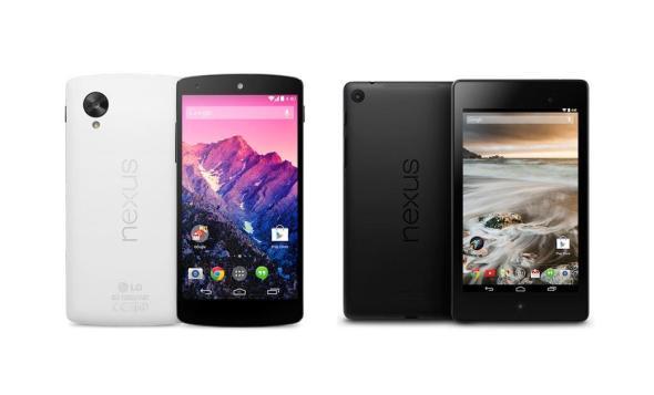 Google Nexus 5 Nexus 7 Header