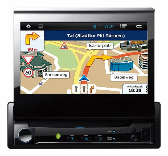 navgear 1 din android autoradio mit gps wifi und. Black Bedroom Furniture Sets. Home Design Ideas