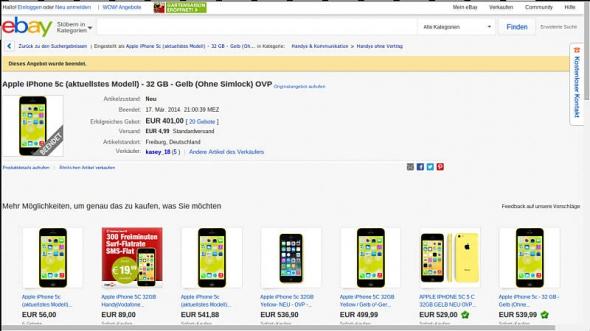 iPhone 5c eBay