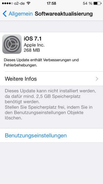 ios 7.1 apple update