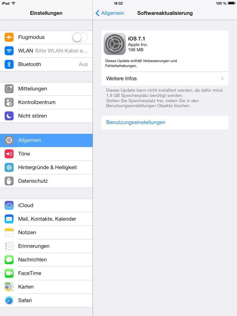ios 7.1 update ipad mini