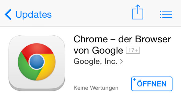 Chrome Google iOS