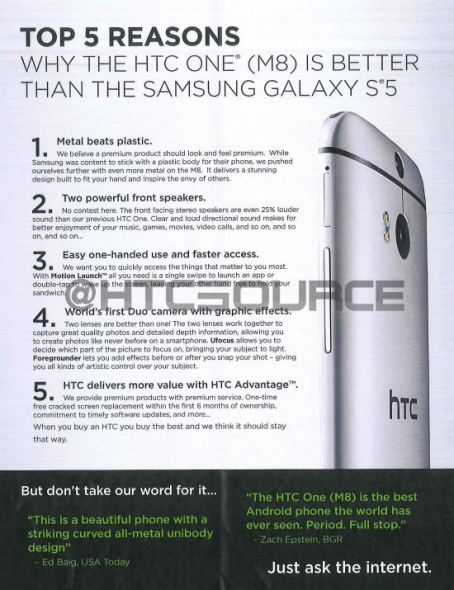 HTC One M8 Schulungsmaterial 01