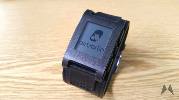 Pebble Smartwatch Boarding Pass Android