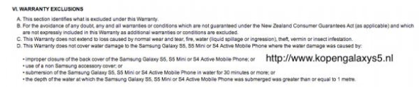 Samsung Galaxy S5 mini wasserdicht