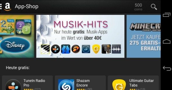 amazon musik apps android free
