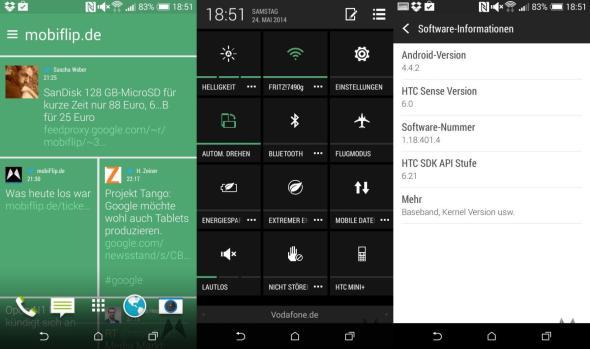 HTC Desire 816 und Desire 610 Screenshots