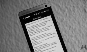 HTC One M7 Sense Update Header