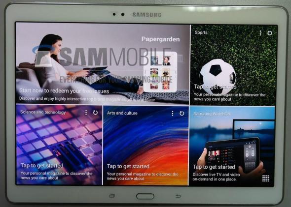 Samsung Galaxy Tab S Front