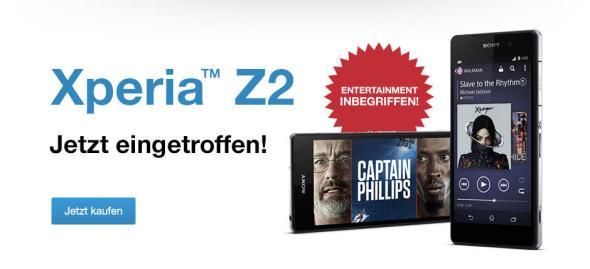 Sony Xperia Z2 Lieferbar Header