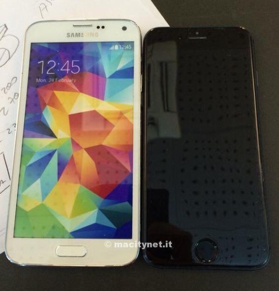 iPhone 6 Mockup Galaxy S5 Vergleich
