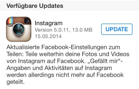 instagram ios update