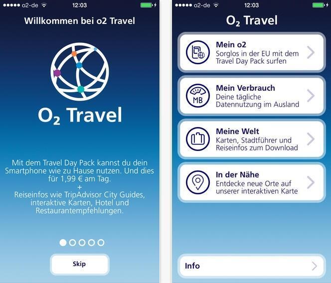 o2 veröffentlicht Travel-App für Android und iOS
