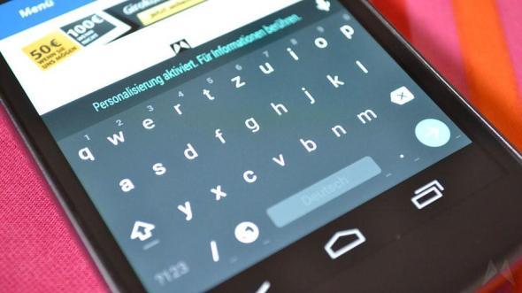 Android L Tastatur Material Header