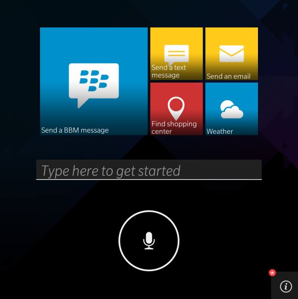 BlackBerry Assistant Screenshot