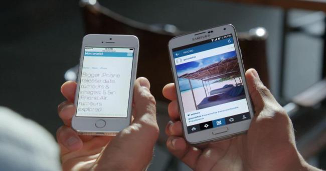 Samsung Galaxy S5 vs. iPhone 5s