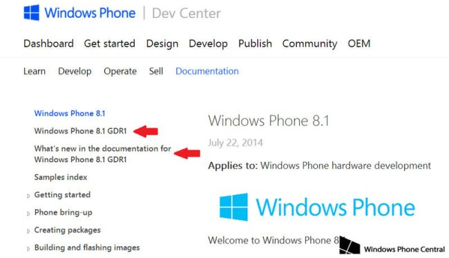 Windows Phone 8.1 GDR1-Update Hinweis