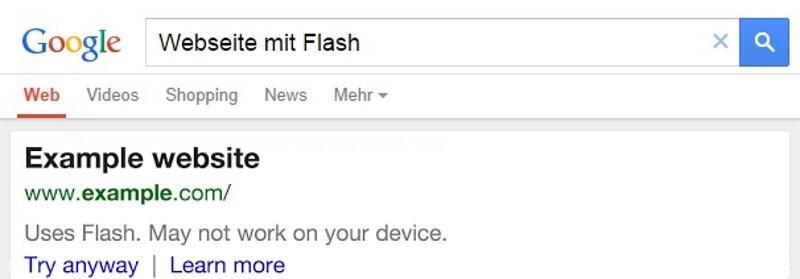 google suche no flash