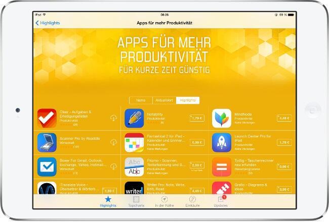 20 Produktivität-Apps iphone ipad ios apple