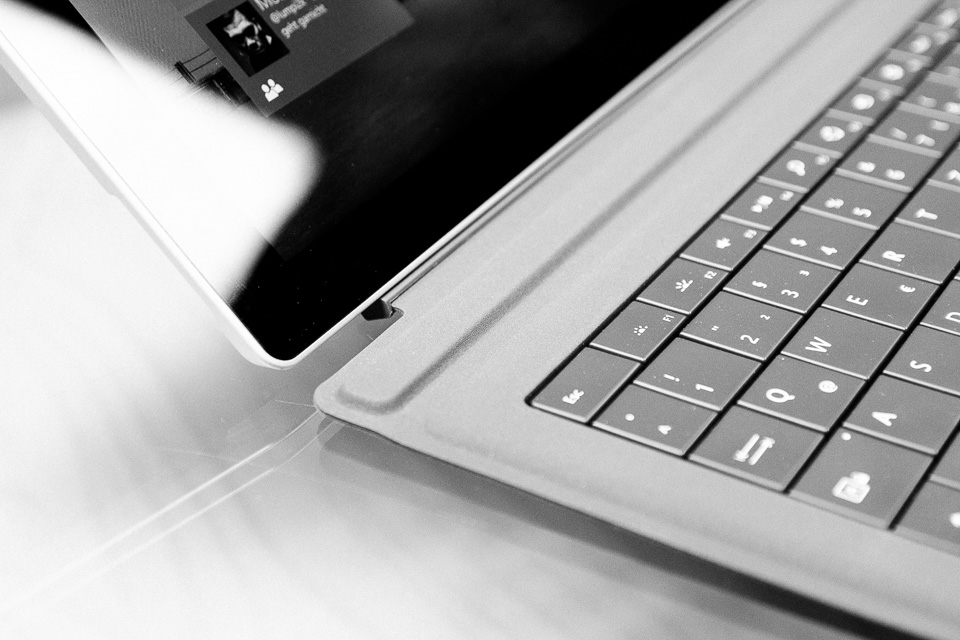 Microsoft Surface 3 Pro - Tastatur angedockt