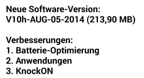 LG G3 V10h Update