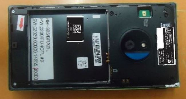Nokia Lumia 830 Leak Offen